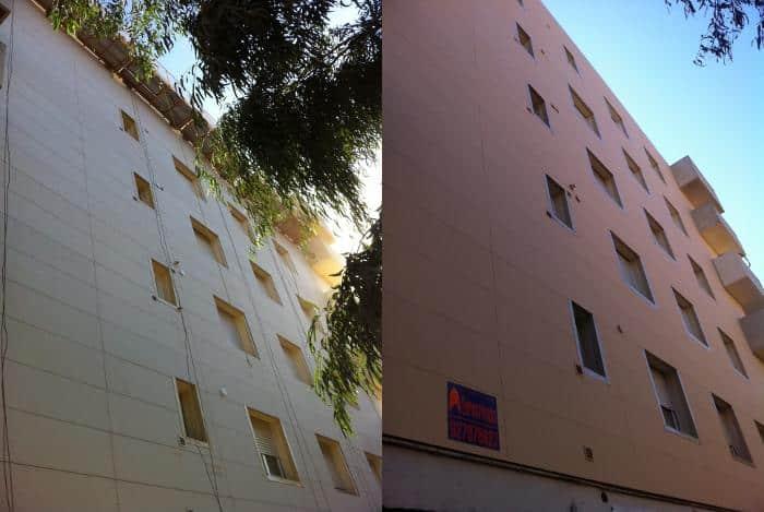 Revestimiento de fachada con placas lisas 2